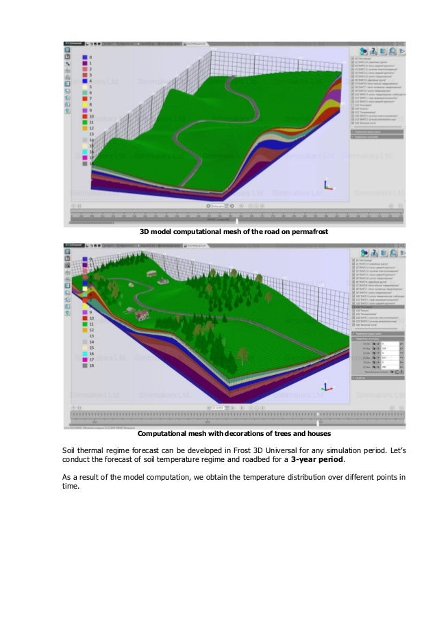 Thermal analysis of a road on permafrost