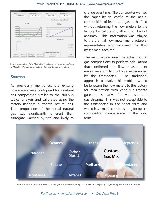 Fox Thermal • www.foxthermal.com • Case Study Page 8 Solution As previously mentioned, the existing flow meters were confi...