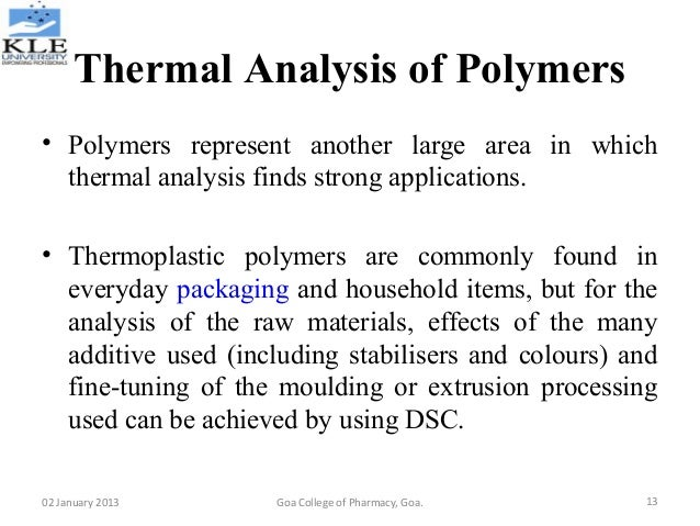 Polymer Characterization Laboratory Techniques and Analysis