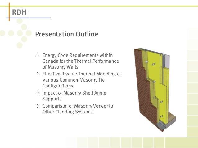 Thermal Bridging of Masonry Veneer Claddings and Energy Code Compliance Slide 2
