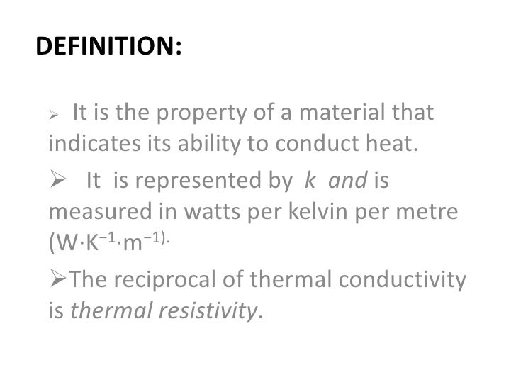how to find thermal condustivity