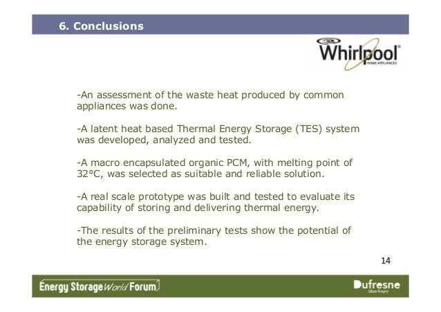 6. Conclusions -An assessment of the waste heat produced by common appliances was done. -A latent heat based Thermal Energ...