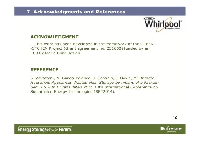 REFERENCE 7. Acknowledgments and References ACKNOWLEDGMENT This work has been developed in the framework of the GREEN KITC...