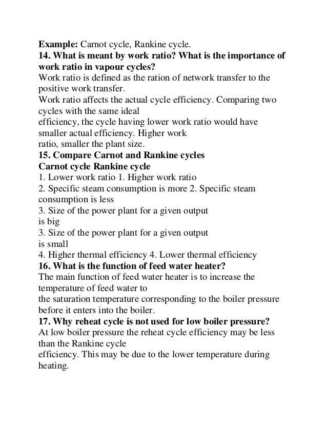 Thermal Engineering 2 Marks