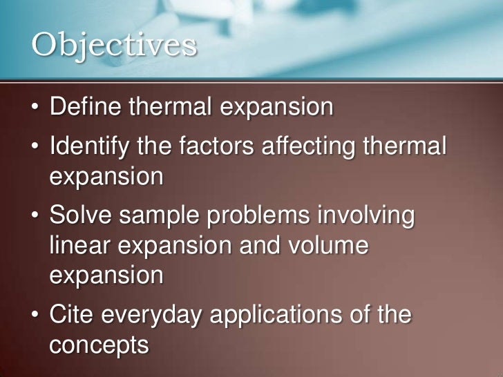 Thermal expansion: coefficient of superficial expansion | hvac.