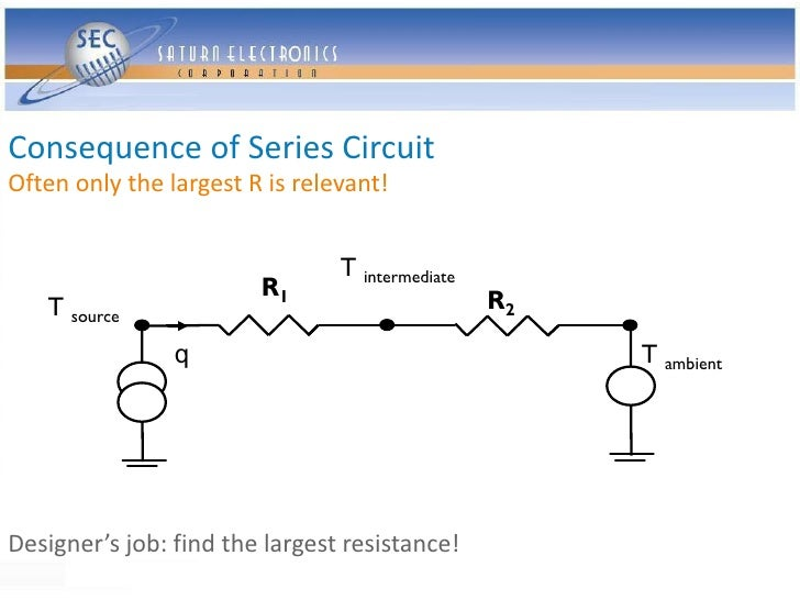 Consequence of Series Circuit Often only the largest R is relevant!                                   T intermediate      ...