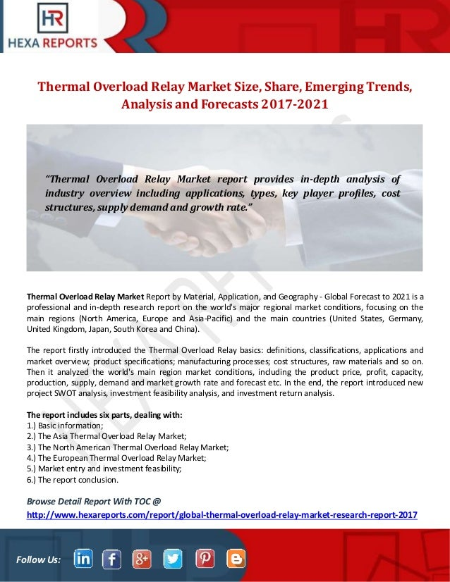 Thermal overload relay market size share emerging trends analysis
