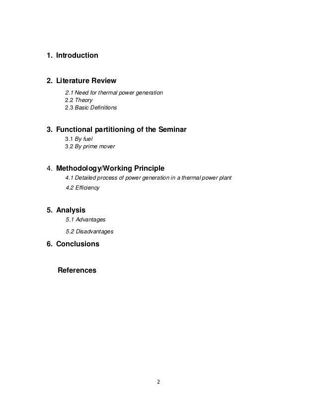 Thermal Power Generation Report Slide 2