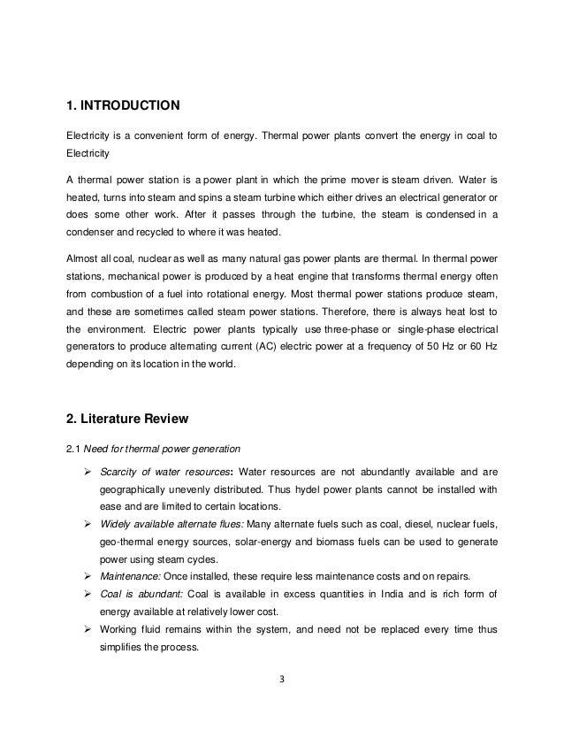 Thermal Power Generation Report Slide 3
