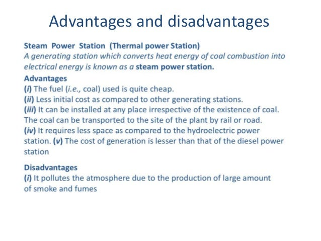 Electric stations: advantages and disadvantages