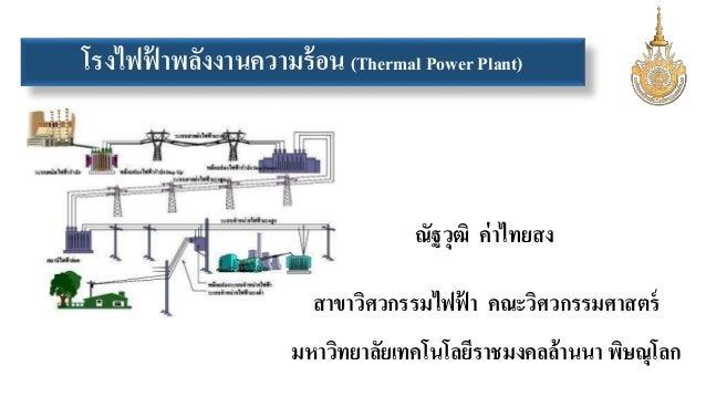 โรงไฟฟ้าพลังงานความร้อน (Thermal Power Plant)  ณัฐวุฒิ ค่าไทยสง  สาขาวิศวกรรมไฟฟ้า คณะวิศวกรรมศาสตร์  มหาวิทยาลัยเทคโนโลยี...