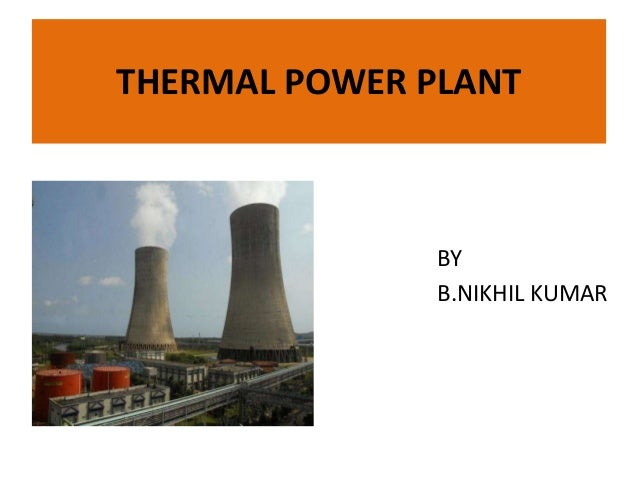 thermal power plant operation pdf