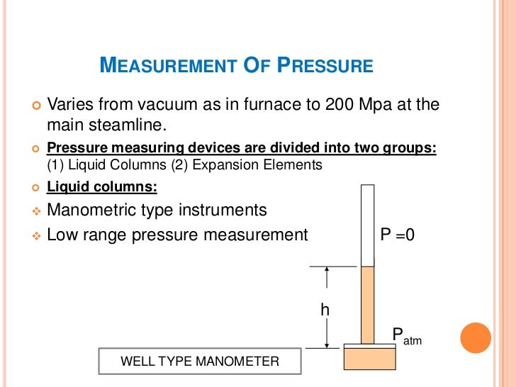 MEASUREMENT OF PRESSURE These are not favoured in modern power plant but  are still used in older power plants. Expansio...