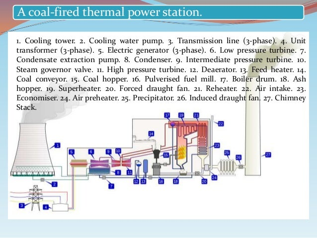 thermal power plant basic to knowledge Thermal Power Plant PPT 2 a coal fired thermal power station 1