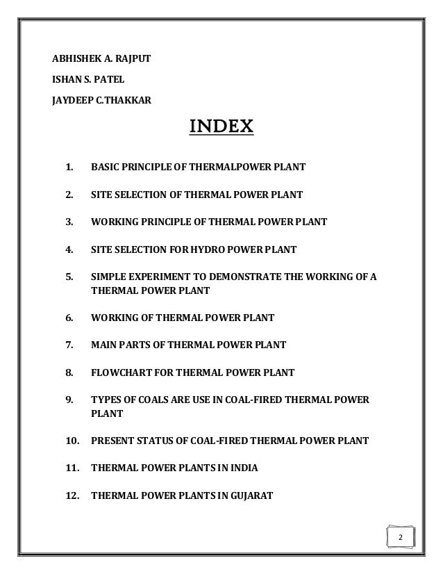 Thermal Power Plant Manual