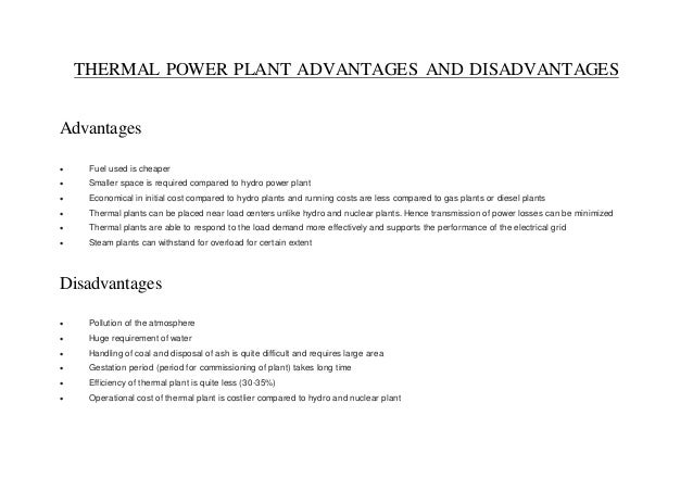 Thermal power plant term project