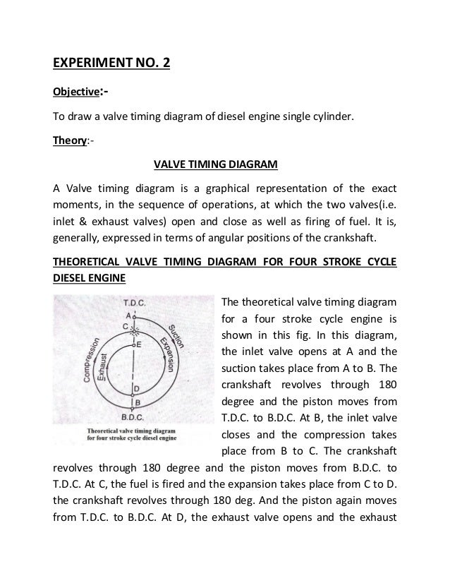 valve timing diagram of two stroke \u0026 four stroke engine Two-Stroke Engine