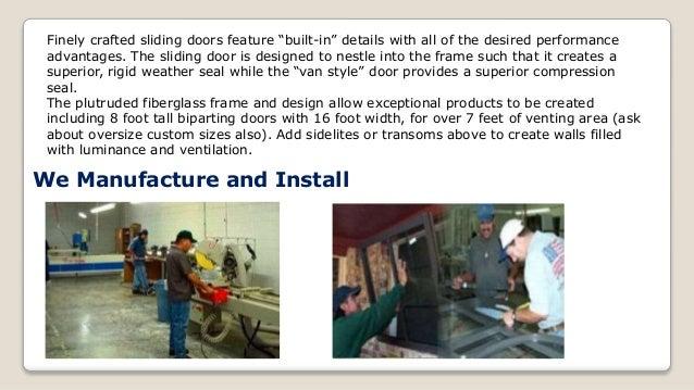 Fiberglass Patio Doors Hybrid Aluminum Patio Doors; 4.