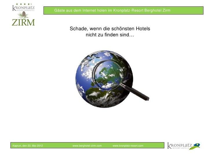 Online Marketing in der Hotellerie - Berghotel Zirm Slide 2