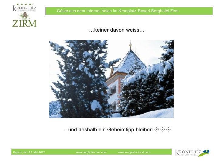 Online Marketing in der Hotellerie - Berghotel Zirm Slide 3