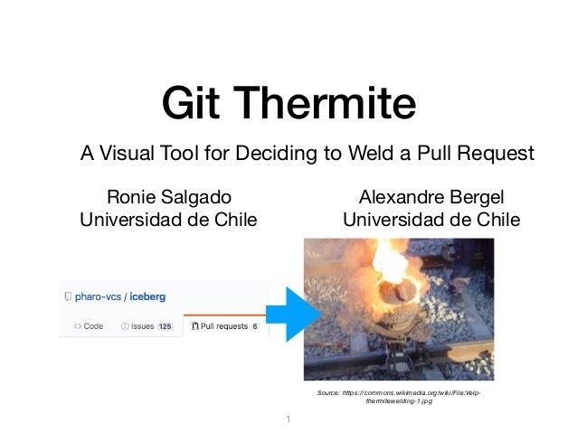 Git Thermite Ronie Salgado  Universidad de Chile 1 Alexandre Bergel  Universidad de Chile A Visual Tool for Deciding to We...