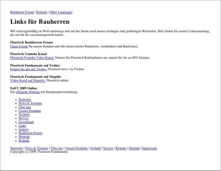 Bauherren Forum | Kontakt | Other Languages   Links für Bauherren Wir sind regelmäßig im Web unterwegs und auf der Suche n...