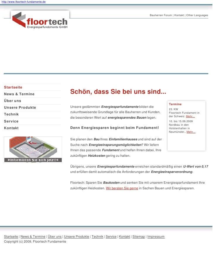 http://www.floortech-fundamente.de                                                                                        ...