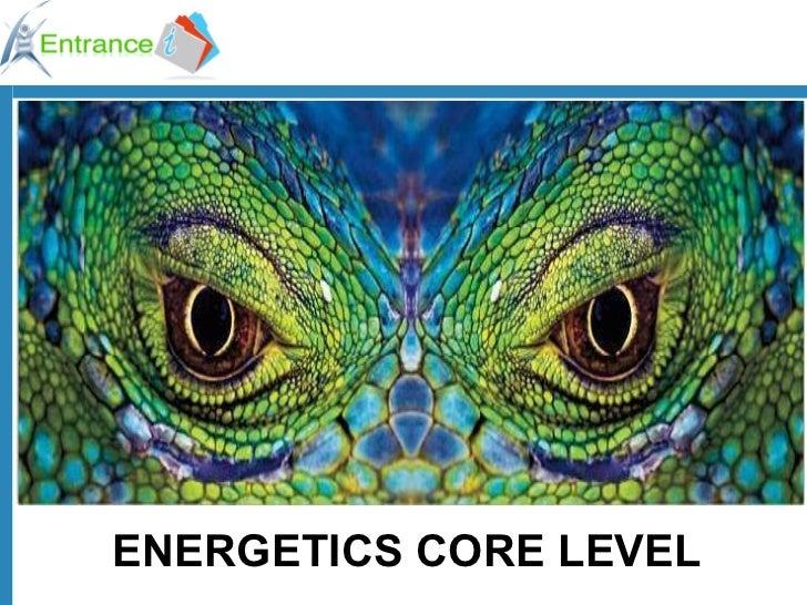 ENERGETICS CORE LEVEL