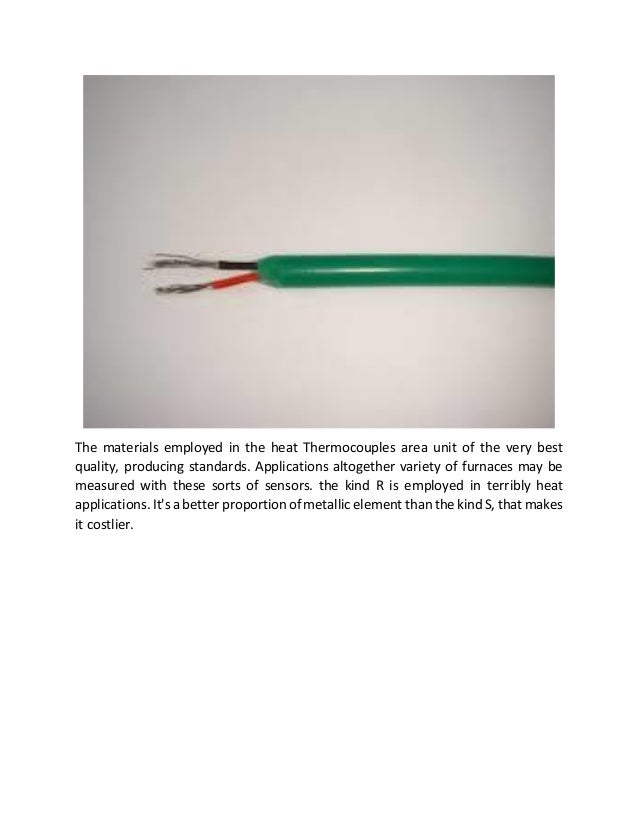 Thermocouple Wire Manufacturers : Thermocouple cable manufacturers