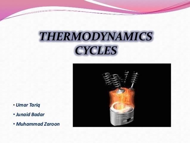 THERMODYNAMICS CYCLES • Umar Tariq • Junaid Badar • Muhammad Zaroon