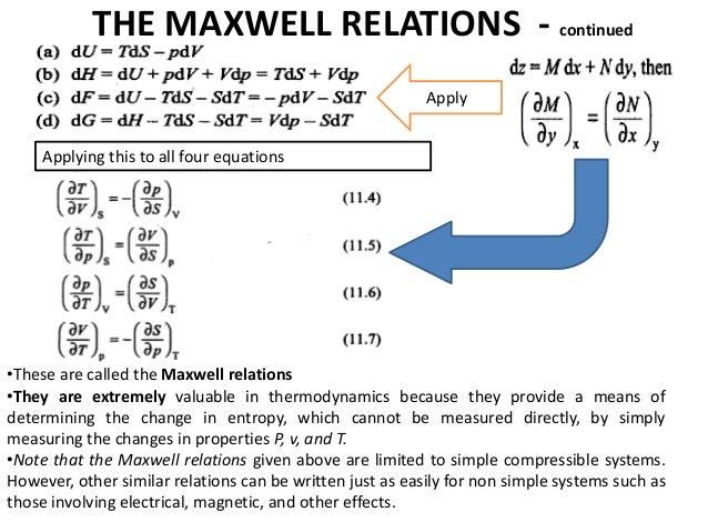 Thermodynamic Relations Clausius Clapreyon Equation