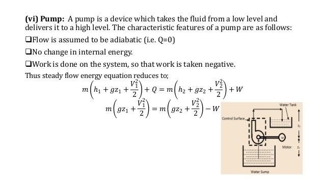 Steady flow energy equation derivation