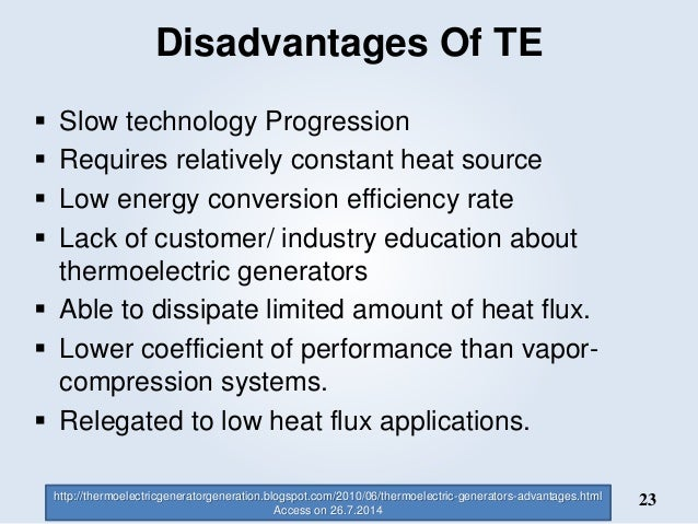 Thermoelectric Materials Amp Applications