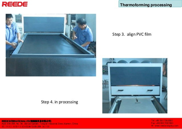 Thermoforming processing of display fixtures Slide 2