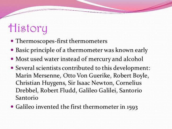 the history and development of mercury thermometers Find great deals on ebay for mercury thermometer in scientific thermometers shop with confidence.