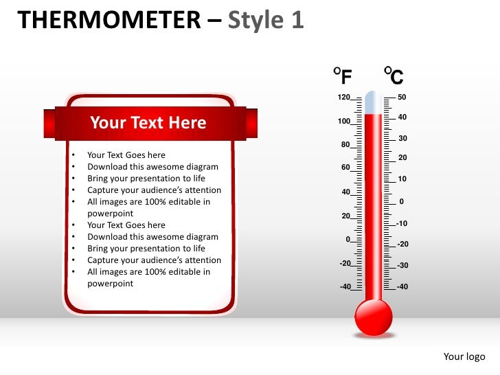 THERMOMETER – Style 1                                           120   50       Your Text Here                      100   4...