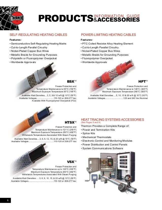 Thermon Products And Accessories Catalog