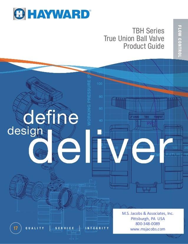 FLOWCONTROL TBH Series True Union Ball Valve Product Guide Q U A L I T Y S E R V I C E I N T E G R I T Y17 M.S. Jacobs & A...