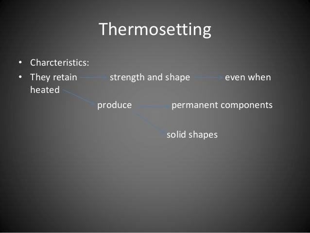 Thermosetting Thermoplastics And Elastomers