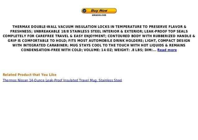 Thermos nissan jmq400 p 14 oz stainless steel vacuum - Travel mug stainless steel interior ...