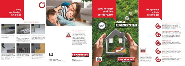 www isomat eu  save energy and live comfortably  easy application in 6 steps  the system's multiple advantages  THE APPLIC...