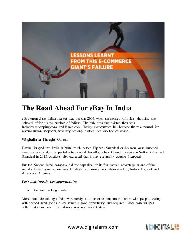 The Road Ahead For Ebay In India