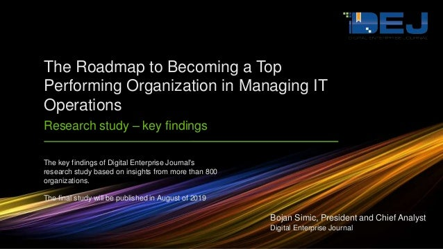 The key findings of Digital Enterprise Journal's research study based on insights from more than 800 organizations. The fi...