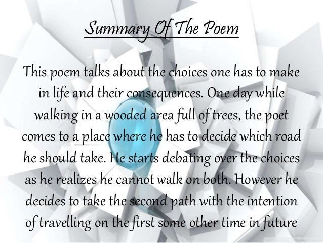 robert frost the figure a poem makes summary
