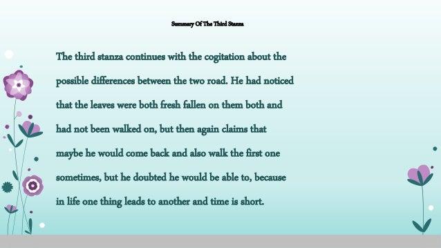 the road not taken short summary