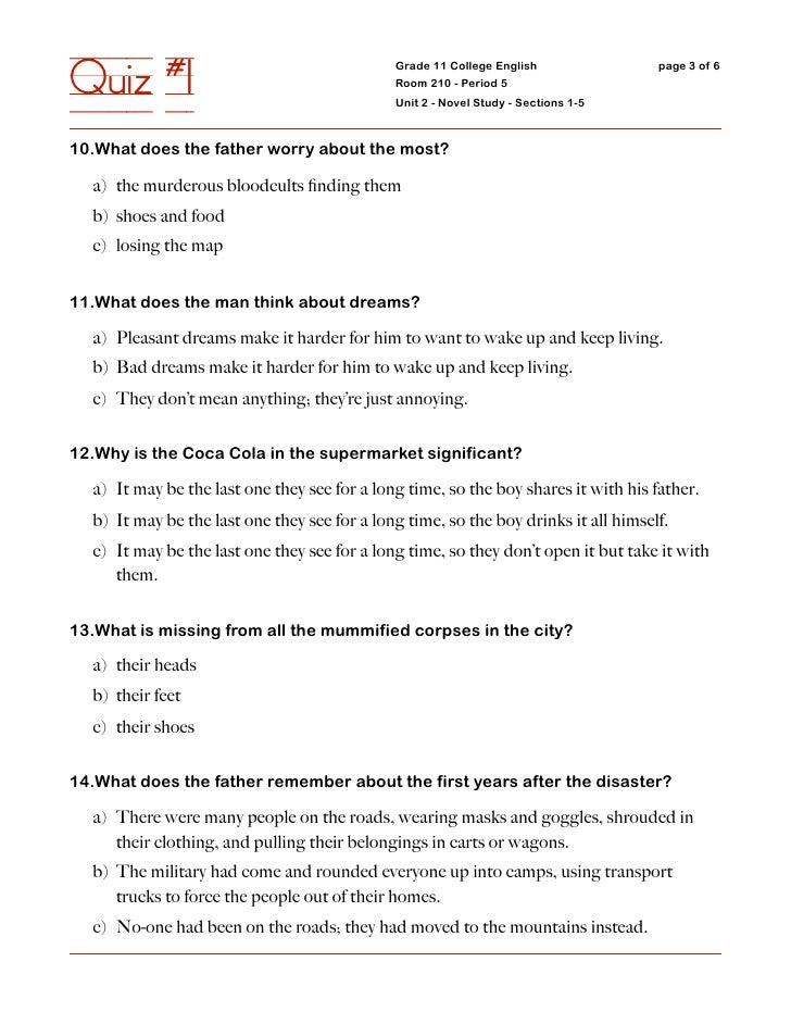 Quiz #1                                       Grade 11 College English                                               Room ...