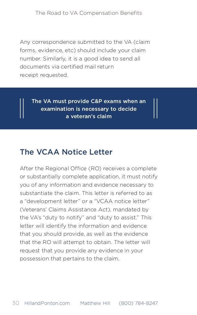 The Road to VA Compensation Benefits 31HillandPonton.com Matthew Hill (800) 784-8247 If you fail to respond to the RO's req...