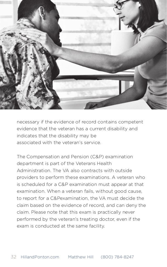 The Road to VA Compensation Benefits 33HillandPonton.com Matthew Hill (800) 784-8247 The Rating Decision Once all the evide...