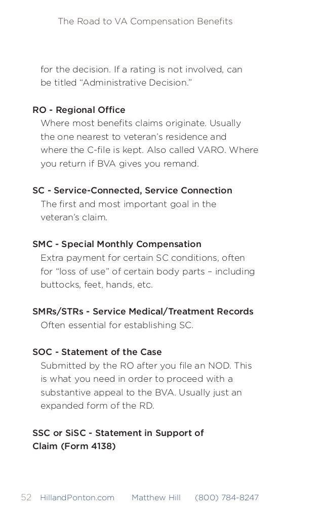 The Road to VA Compensation Benefits 53HillandPonton.com Matthew Hill (800) 784-8247 This is the form to use instead of swo...