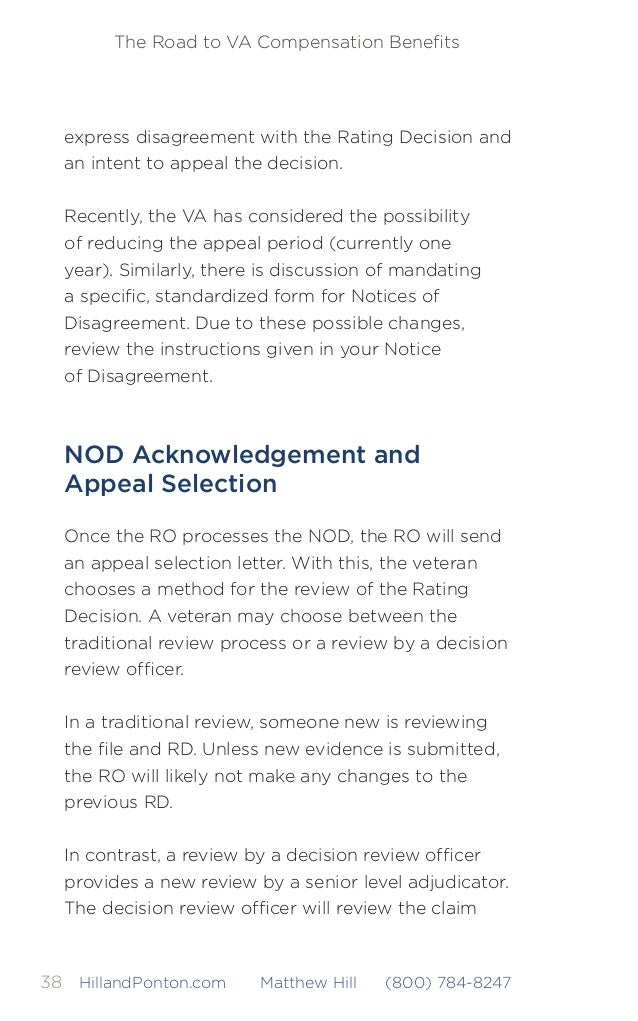 the decision review ofcer will review the claim 44